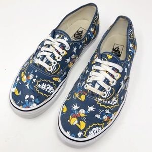 Vans x Disney Donald Duck authentic shoes 10 mens